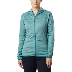 Columbia Baker Valley Chaqueta Polar Capucha Mujer, waterfall heather